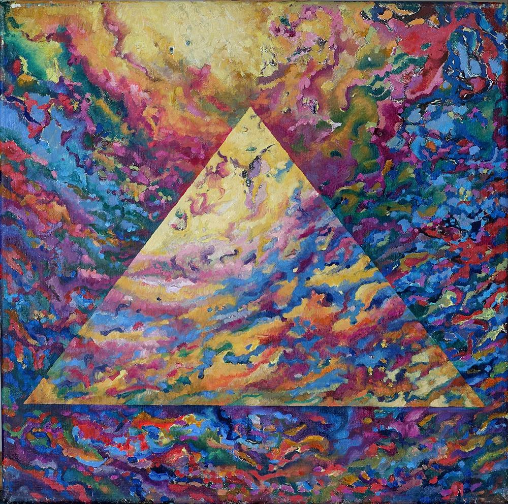 Pyramid, Oil on Linen, 35cm x 35cm