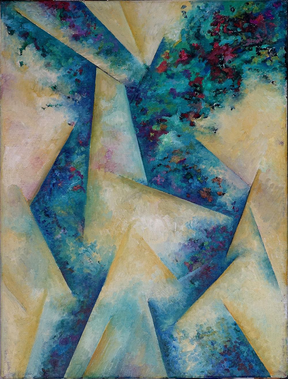 Meditation on Light and Matter (Homage to Ferdinand Leger), Oil on Linen, 40cm x 30cm