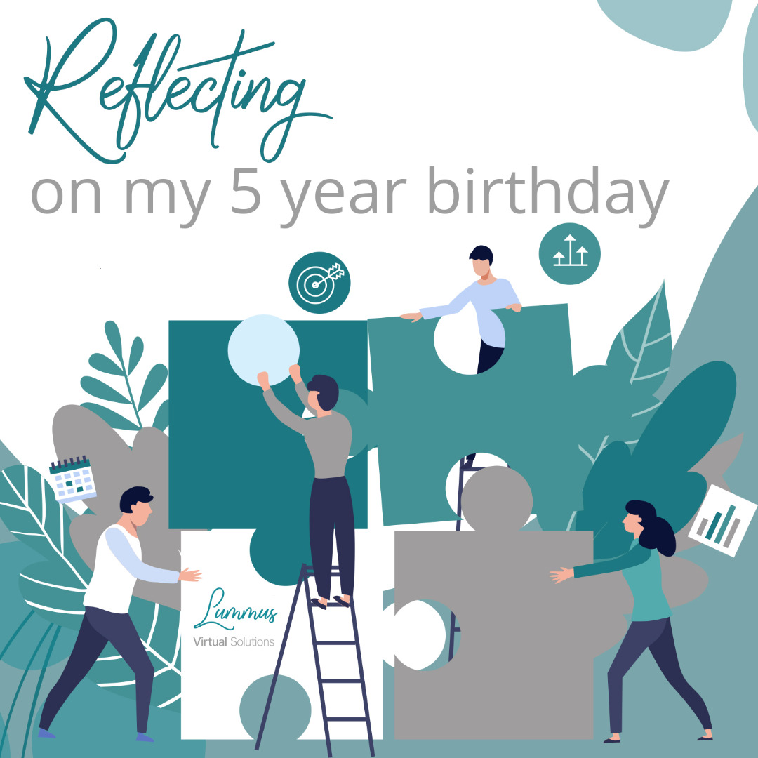 Virtual assistant and professional proofreader, Kerry Lummus reflects on five years in business.