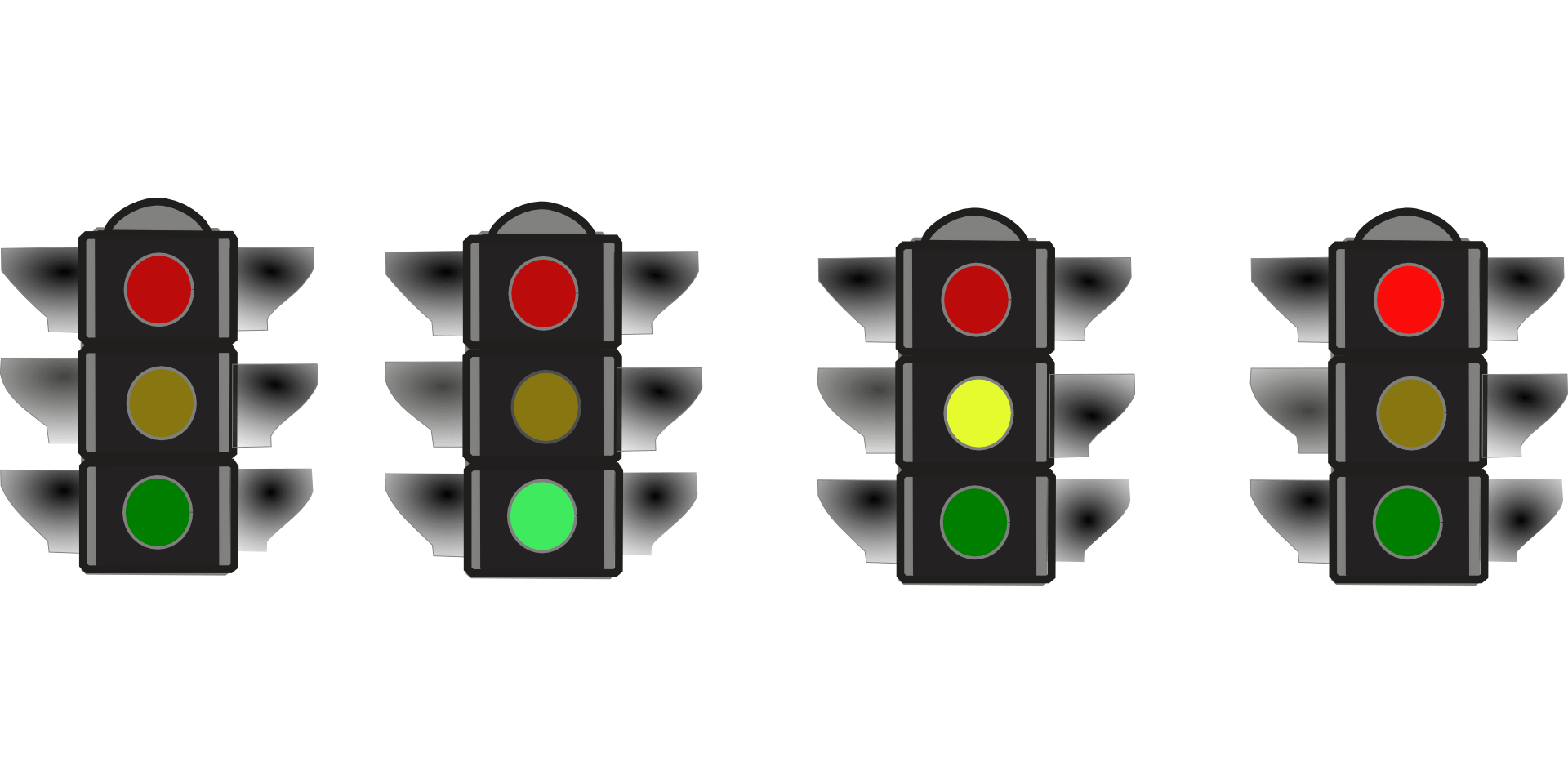 Traffic lights depicting the traffic light system used by virtual assistant, Kerry Lummus, to help potential clients to identify what tasks they should be delegating.