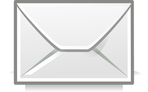 A cartoon image of an envelope - a symbol generally recognised as depicting emails.