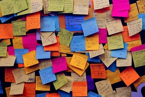 A board of sticky notes showing how an SME could benefit from a Virtual Assistant at KL Secretarial Services