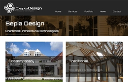 Sepia Design - Architects web design by Toolkit Websites, Southampton