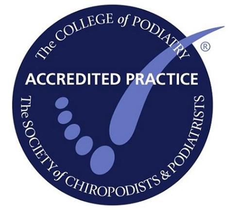 Society of Chiropody and Podiatrist Accreditation logo