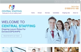 Central Staffing - Recruitment website design by Toolkit Websites, professional web designers