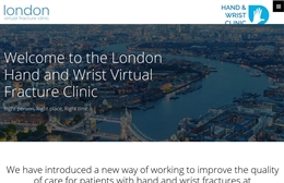 Web Design Case study for The hand and wrist virtual fracture clinic based in London