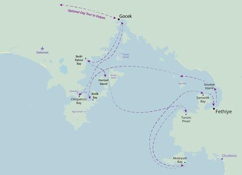 Fethiye - Fethiye Cruise onboard Seyhan Jan