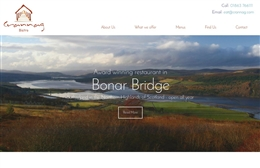 Crannag Bistro - 1-page website design by Toolkit Websites, expert web designers uk