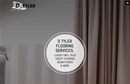 D Tyler Flooring Services - Flooring company website design by Toolkit Websites, Southampton