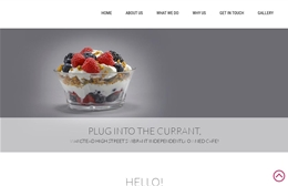 The Currant - 1-page website design by Toolkit Websites, expert web designers uk