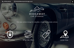 Cotswolds Car Storage  - Automotive website design by Toolkit Websites, Southampton