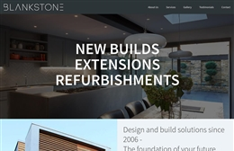 Blankstone - 1-page website design by Toolkit Websites, Southampton