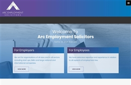Arc Employment Solicitors - Solicitor web design by Toolkit Websites, Southampton
