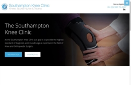 The Southampton Knee Clinic - Medical website design by Toolkit Websites, Southampton
