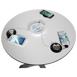 Mobile charging table
