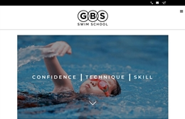 GBS Swim School - Swim School website design by Toolkit Websites, professional web designers