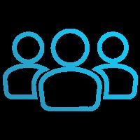 Three People Board Training Icon