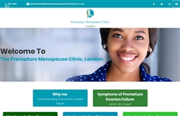Web Design Case study for The Premature Menopause Clinic, London