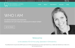 Dr Emma Laing - Orthodontist website design by Toolkit Websites, professional web designers