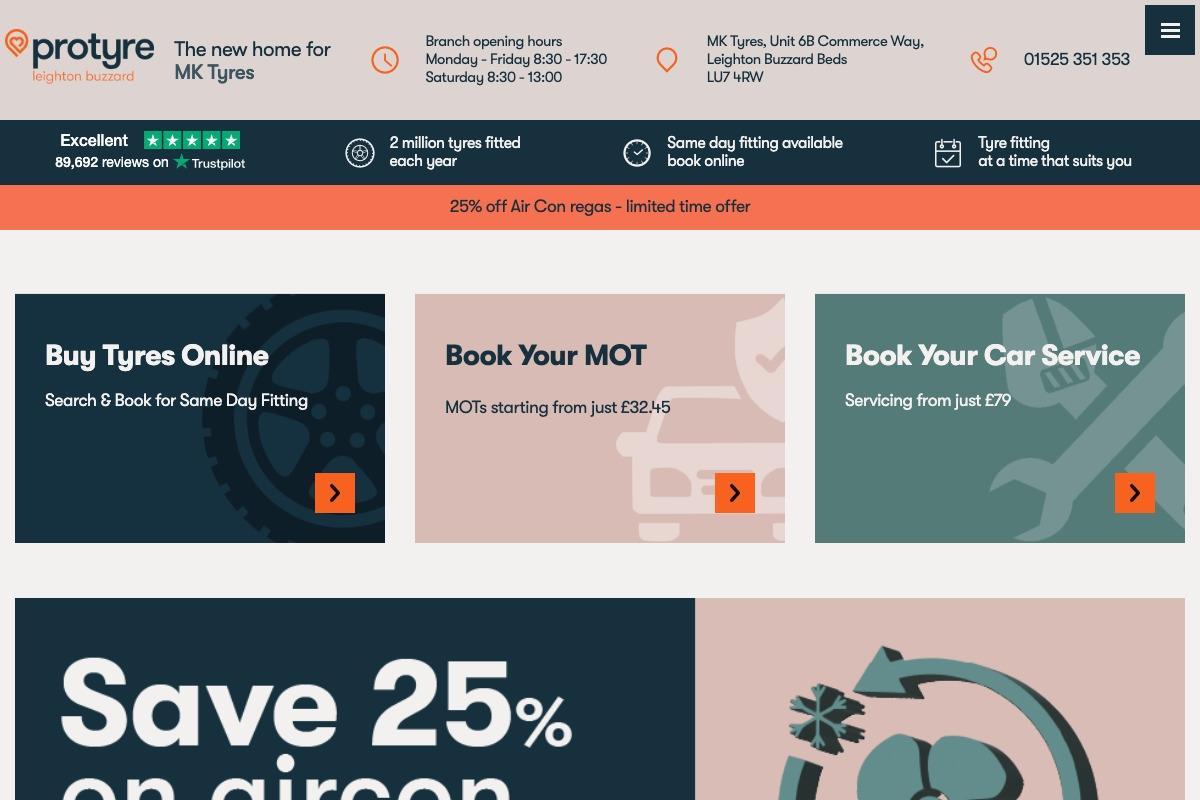 Maintenance (MOT): a selection of sites