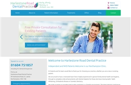 Harlestone Road Dental Practice - Dentist website design by Toolkit Websites, professional web designers