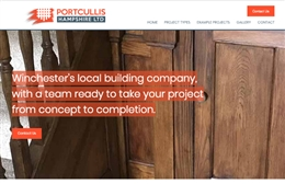 Portcullis Hampshire - Construction company website design by Toolkit Websites, professional web designers