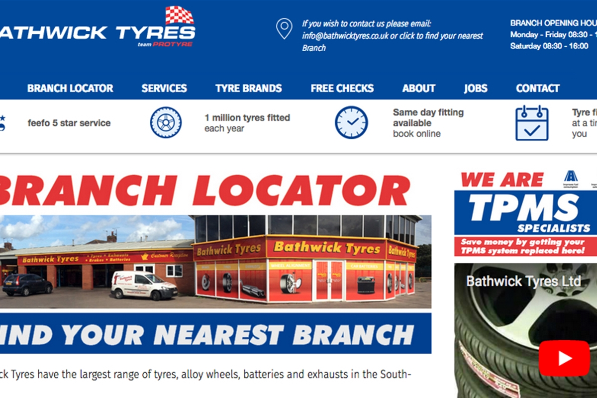 Tyres, MOT & Vehicle Servicing in South England and Wales | Bathwick