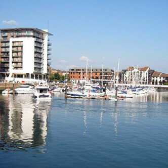 Southampton Ocean Village marina in the daytime