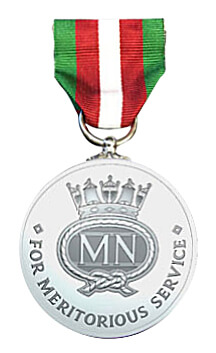image of the back of the merchant navy medal