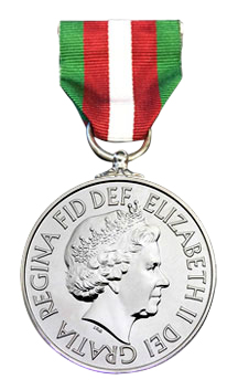image of the front of the merchant navy medal
