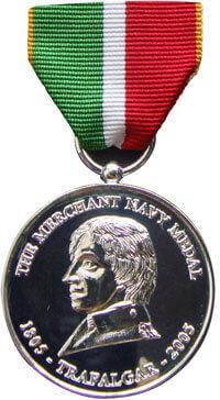 Previous Merchant Navy Medal Back