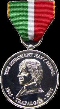 Merchant Navy Medal front