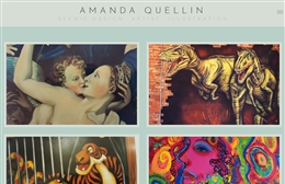 Amanda Quellin - Artist website design by Toolkit Websites, expert web designers