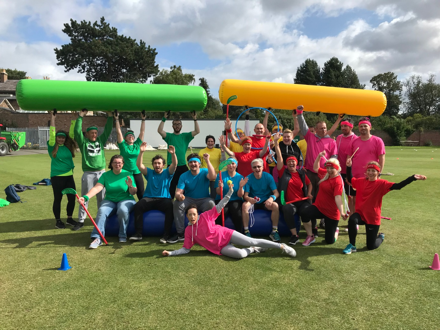 Excel Team Photo, sports day fun