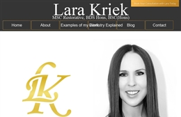 Lara Kriek - Dentist website design by Toolkit Websites, professional web designers