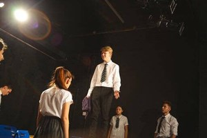 extremism performance on stage at the black box studio theatre