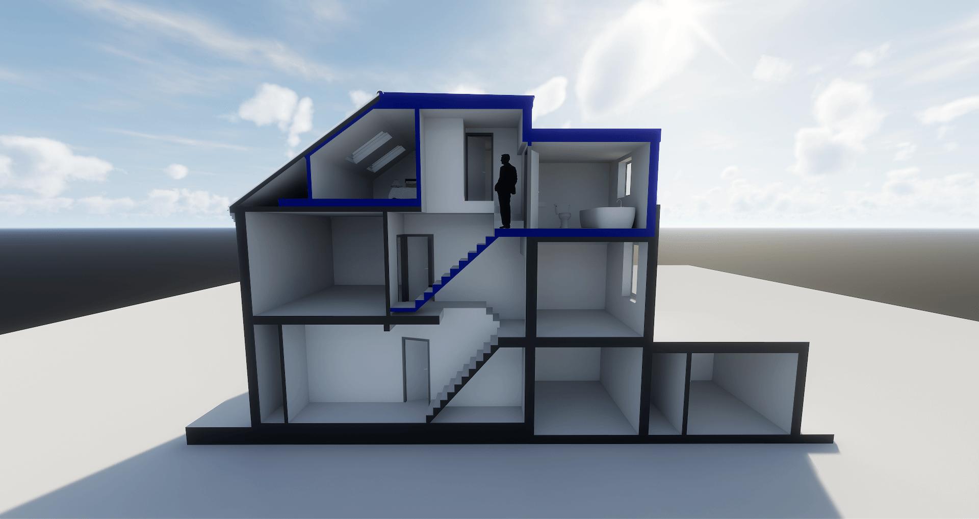 Side Profile Graphic of Loft Conversion