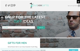 Give him gifts - retail website design by Toolkit Websites, professional web designers
