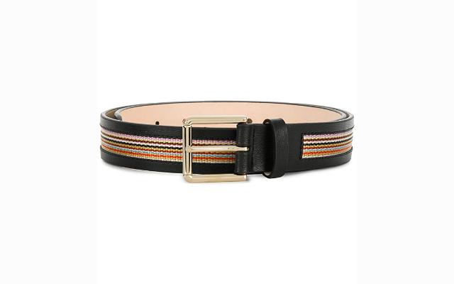 Paul Smith Black Leather Belt