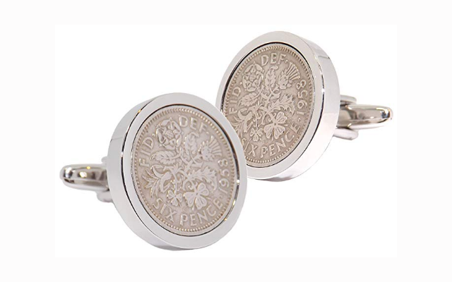 1958 Sixpence Coins Cufflinks