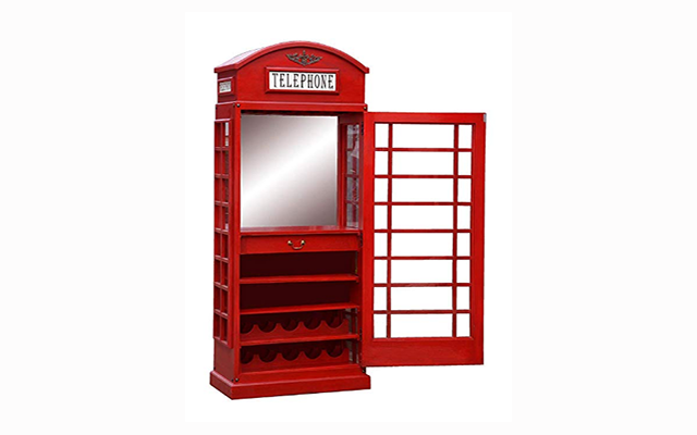 White Star Telephone Box Drinks Cabinet