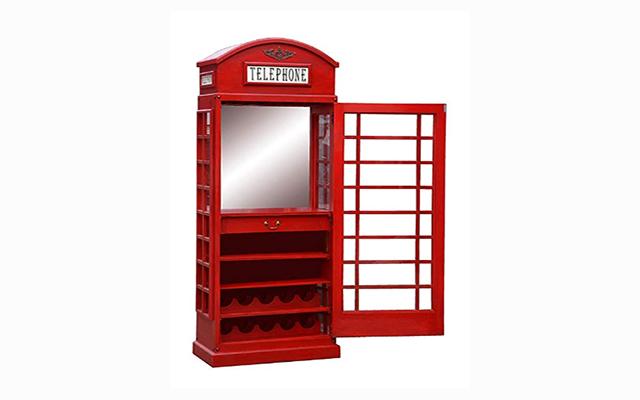 White Star Telephone Box Drinks Cabinet