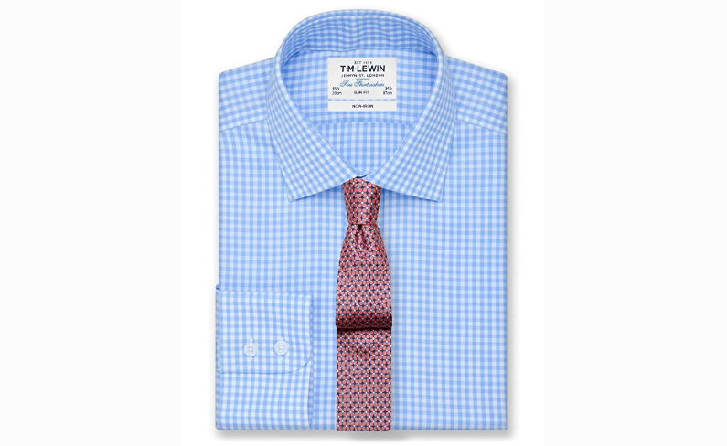 T.M Lewin Non-iron Gingham Slim Fit Shirt