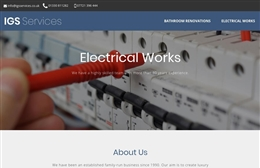 IGS Services - Bathroom Renovations and Electrical Works Web Design by Toolkit Websites