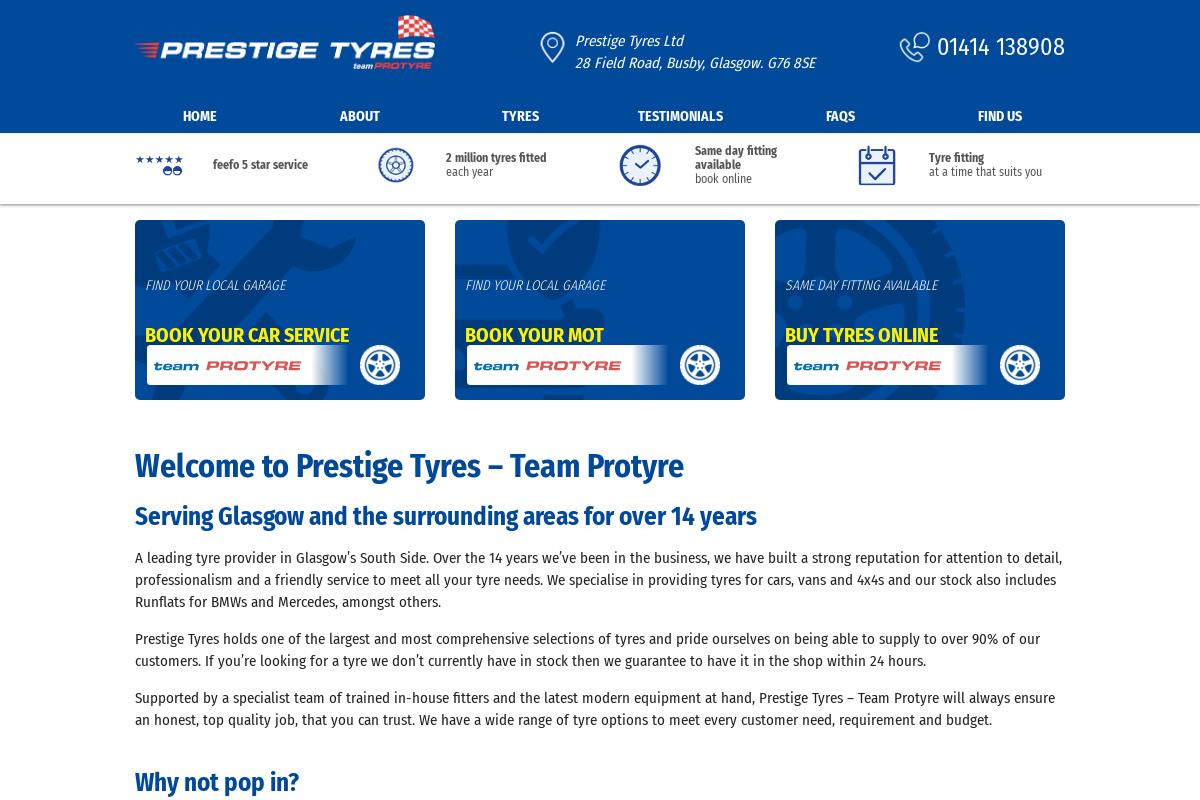 Cheap Premium Mid Range Budget Tyres In Clarkston Waterfoot Giffnock Glasgow Prestige Tyres
