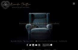 Alexander Christian - Furniture Restoration Web Design by Toolkit Websites