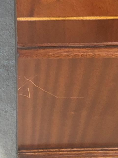 Sutcliffe, Scratch removal on TV cabinet, before