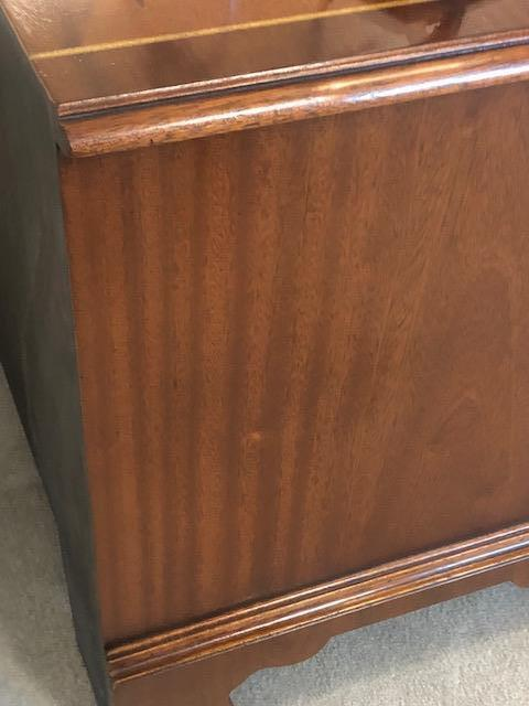 Sutcliffe, Scratch removal on TV cabinet, after