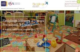 Fledglings Day Nursery & Pre School - 1-page website design by Toolkit Websites, expert website designers uk