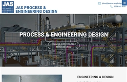 JAS Process & Engineering Design - website design by Toolkit Websites, professional web designers